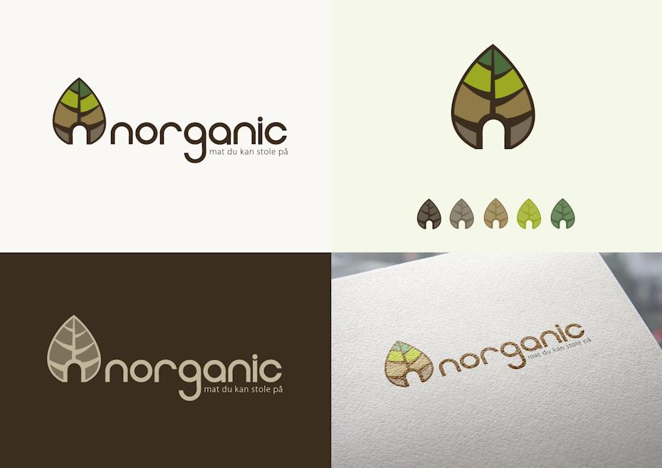 5 organic logo herbstlich
