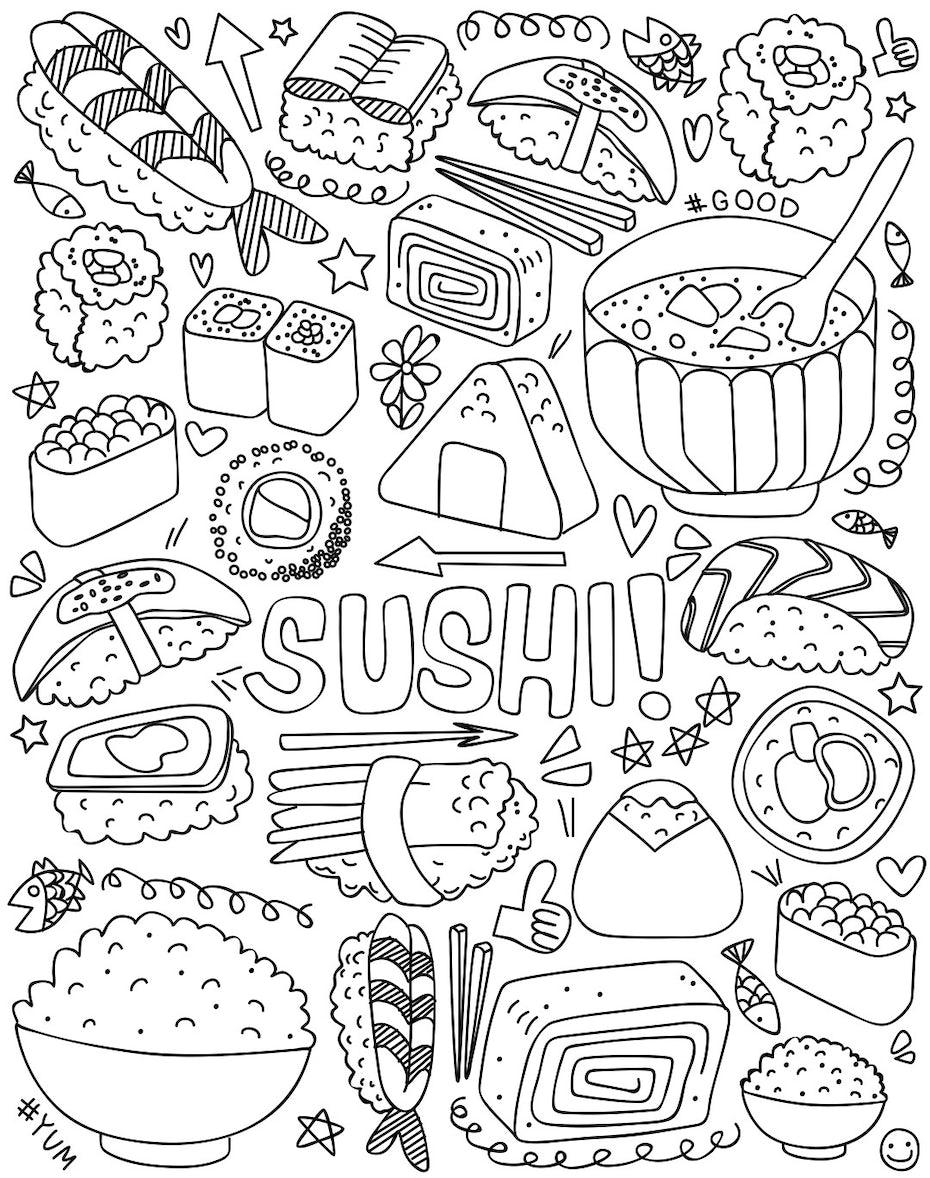 9 malbuch sushi