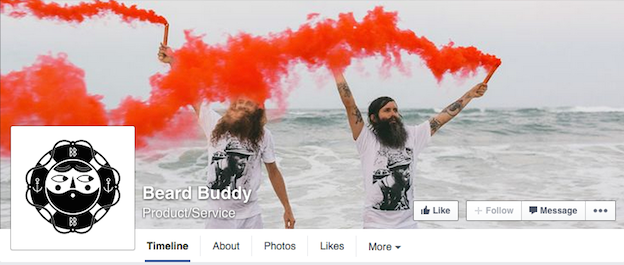 Beard Buddy social media branding