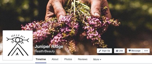 Juniper Ridge social media branding