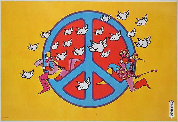 Peter Max Peace Sign