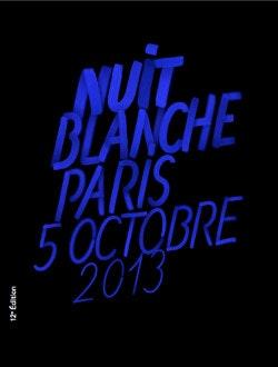 Poster de la nuit Blanche 2013