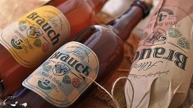 Kraft paper beer label