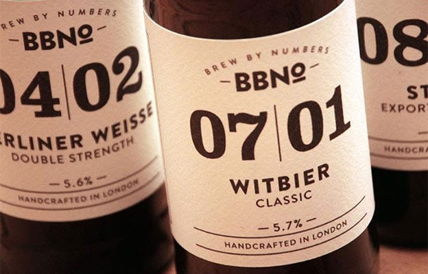 Brew By Numbers label design