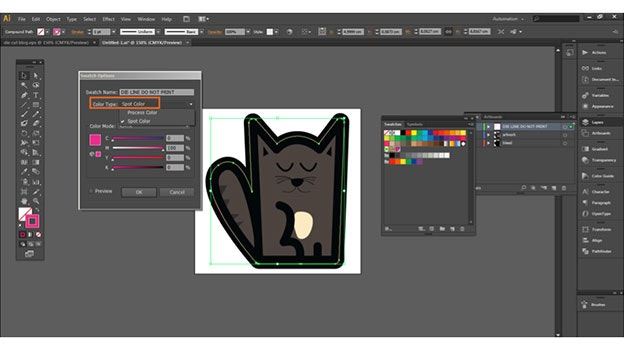 diecut sticker tutorial