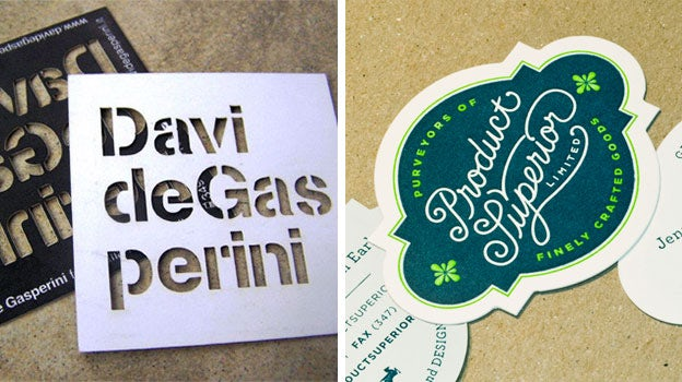 Left cut out business cards via evolve already right letterpress and die cut business cards via pressing letters