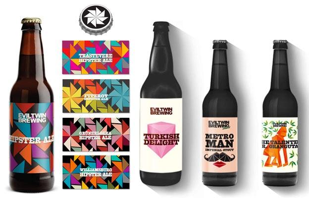 Evil Twin beer labels