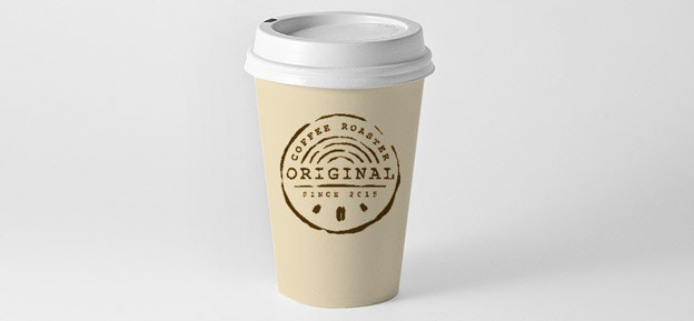Finished coffee cup design tutorial