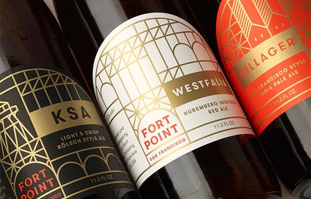 Fort Point - Minimal, geometric beer labels