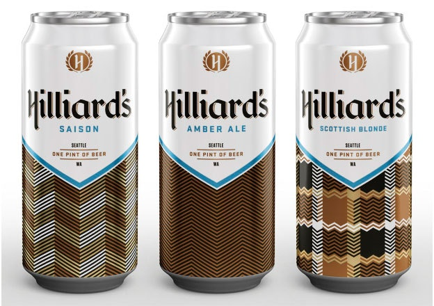Hilliards beer can design
