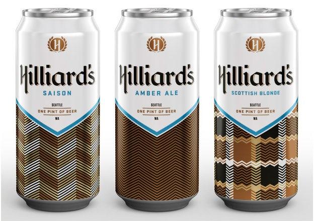 Hilliards beer can design