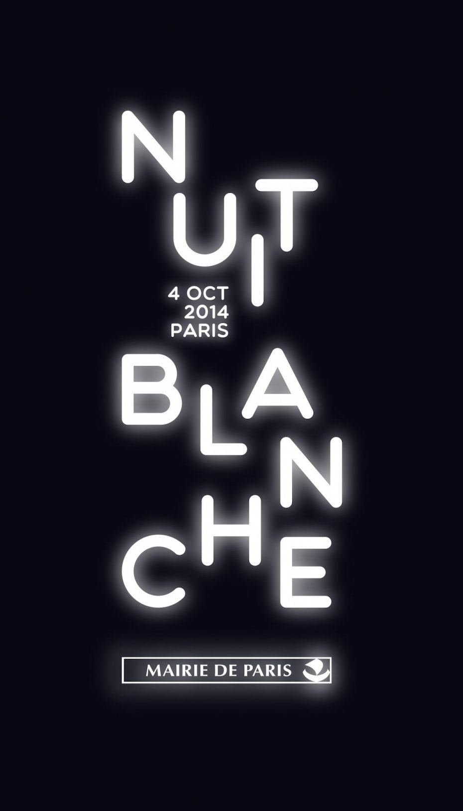 Poster de la nuit Blanche 2014