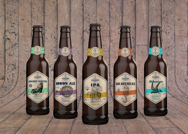 Kraft paper beer label from 99designs