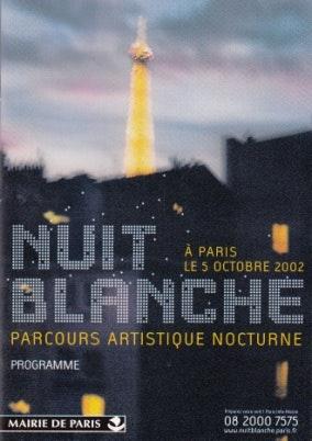 Poster de la nuit blanche en 2002