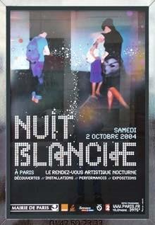 Poster de la nuit blanche en 2004