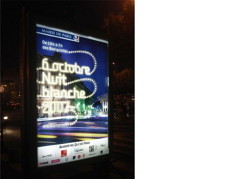 poster de la nuit Blanche 2007