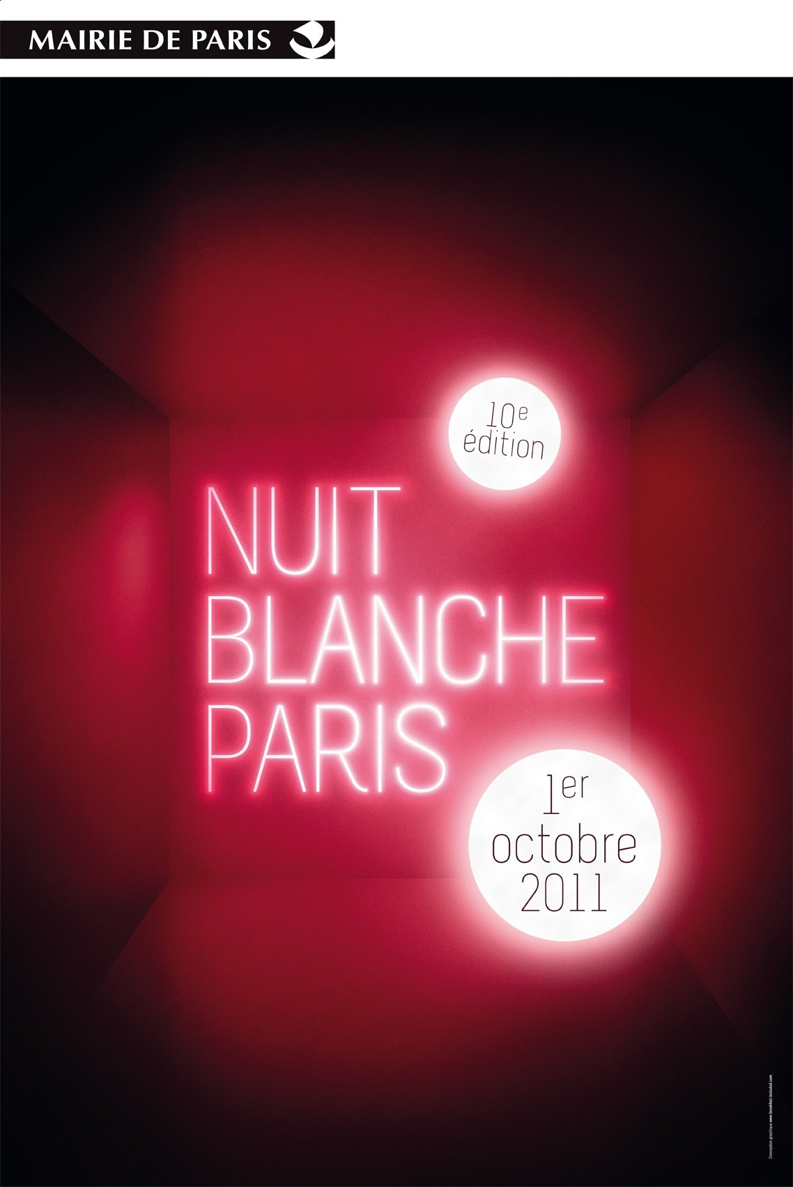 Poster de la nuit Blanche 2011