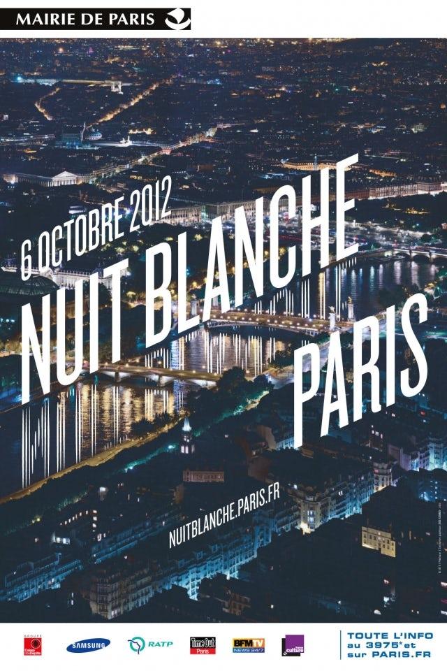 Poster de la nuit Blanche 2012