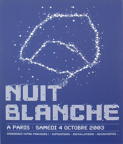 Poster nuit blanche 2003