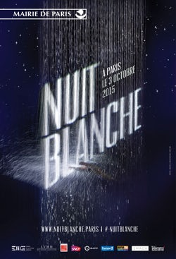 Poster de la nuit Blanche 2015