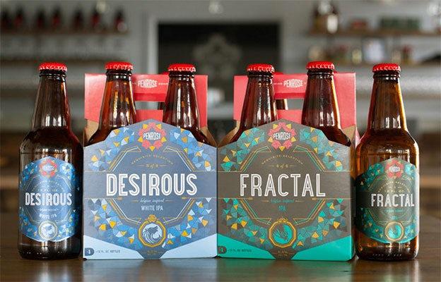 Penrose Brewing geometric beer packing