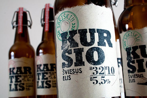 Saskiskiu Alus DIY stamp beer labels