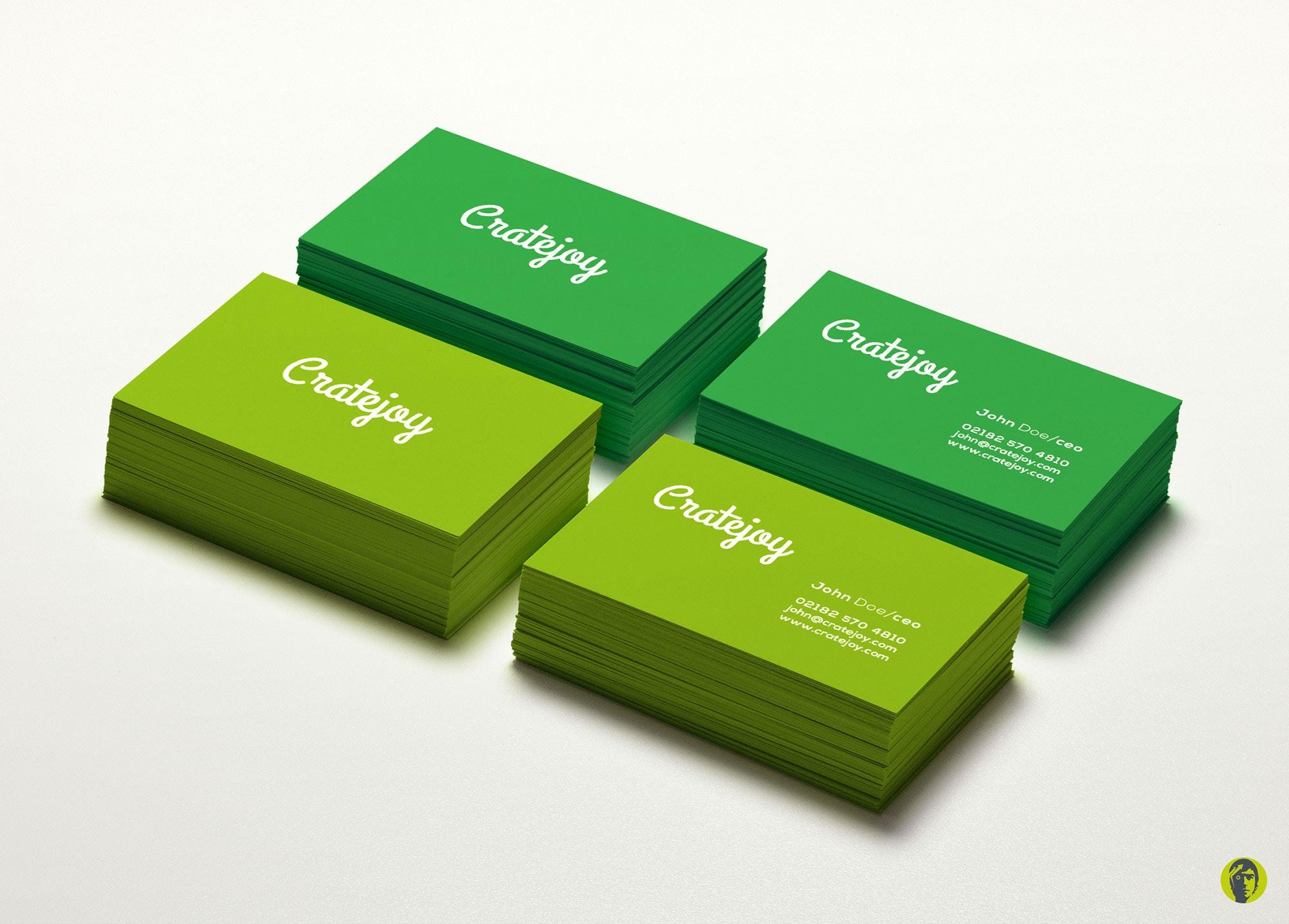 31 visitenkarte grün