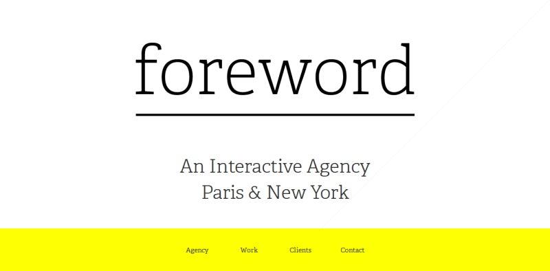 Homepage für Foreword