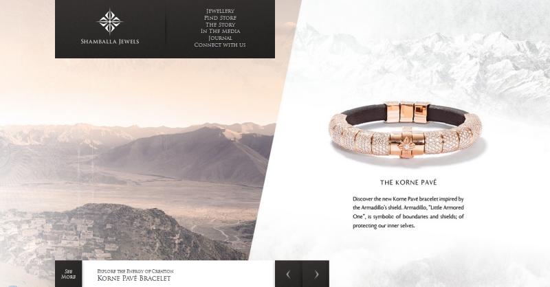 Homepage für Shamballa Jewels