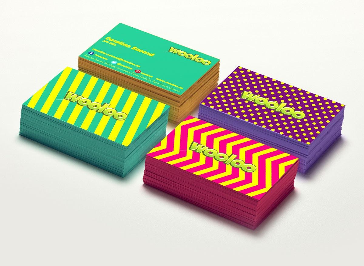 Exemple coloré de carte de visite