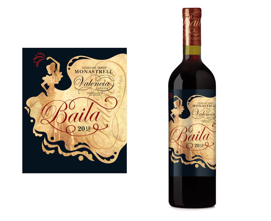 étiquette de vin Baila Monastrel