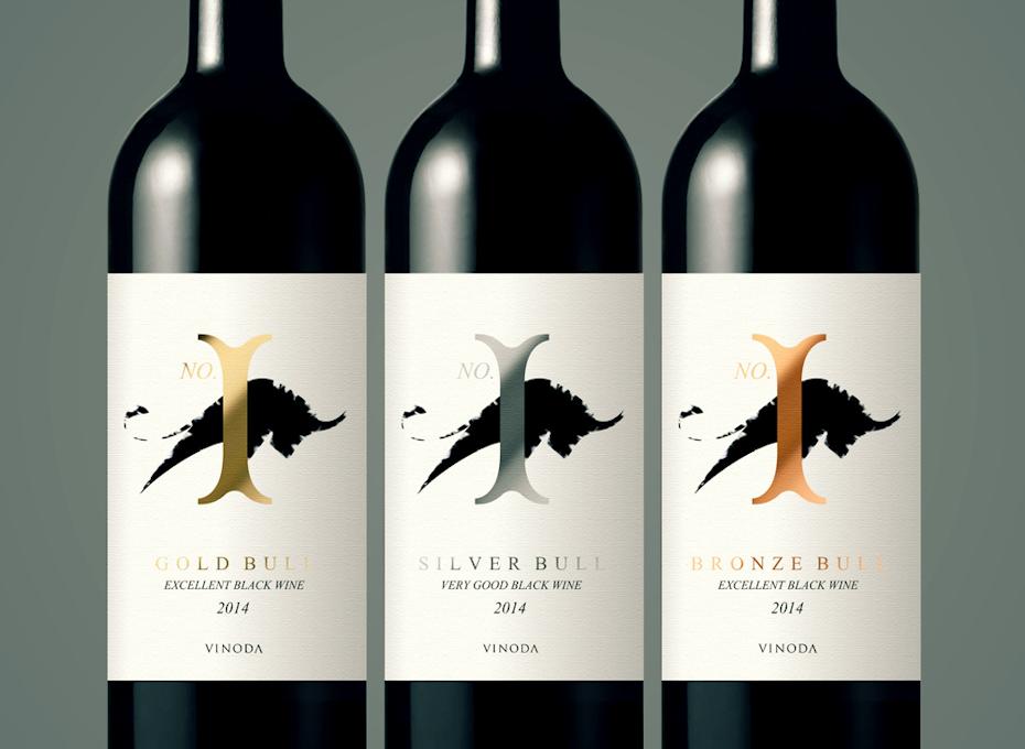 étiquette du vin bull