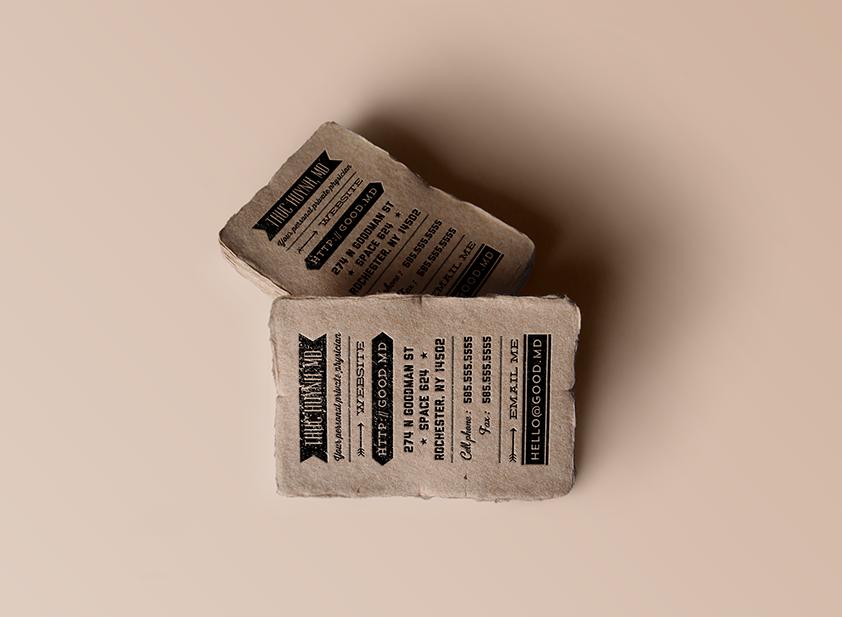 Exemple de carte de visite restaurant
