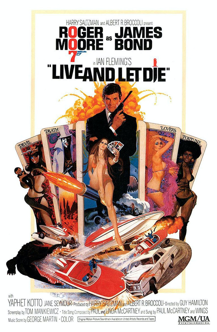 Affiche de Live and let die