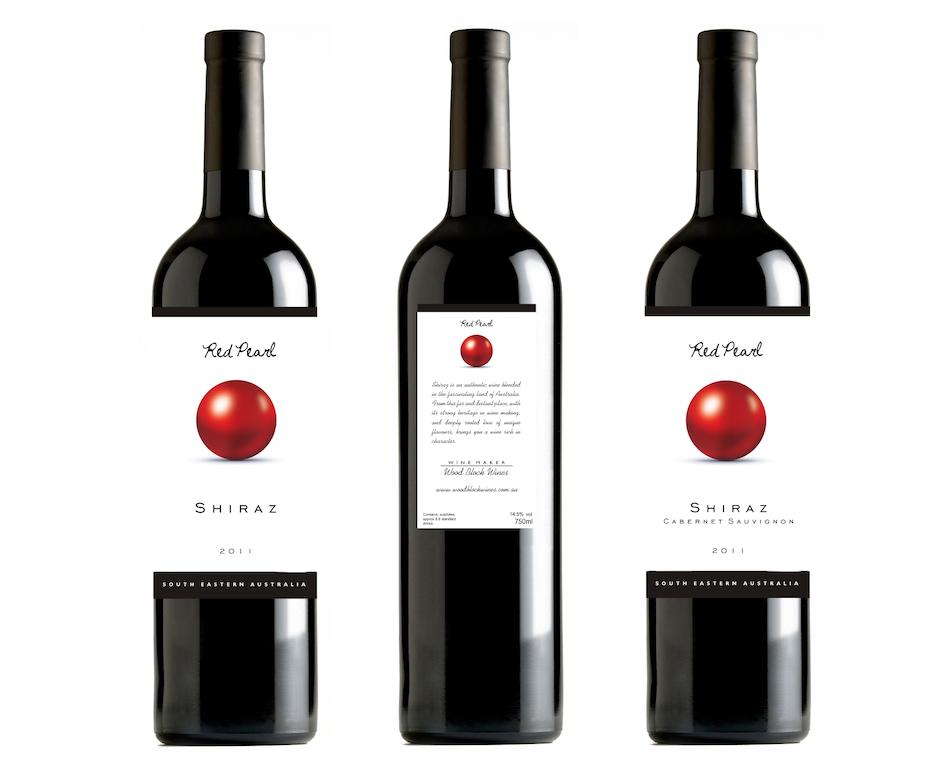 étiquette du vin shiraz