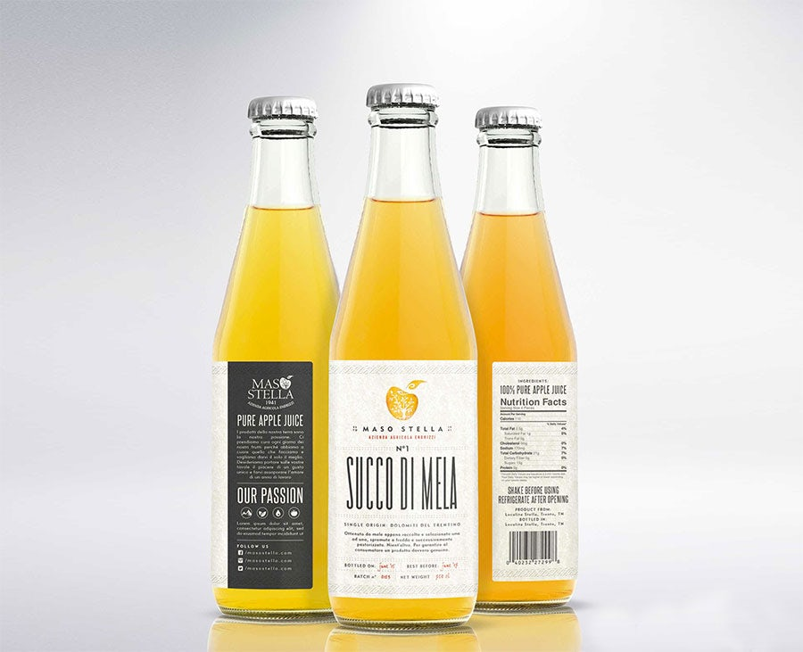 apple juice design