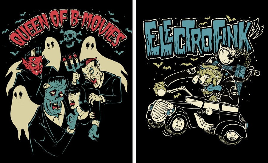 t-shirt designs by horror rudey