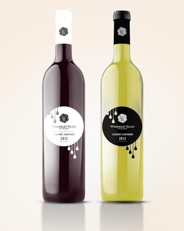 étiquette du vin wimberley Valley
