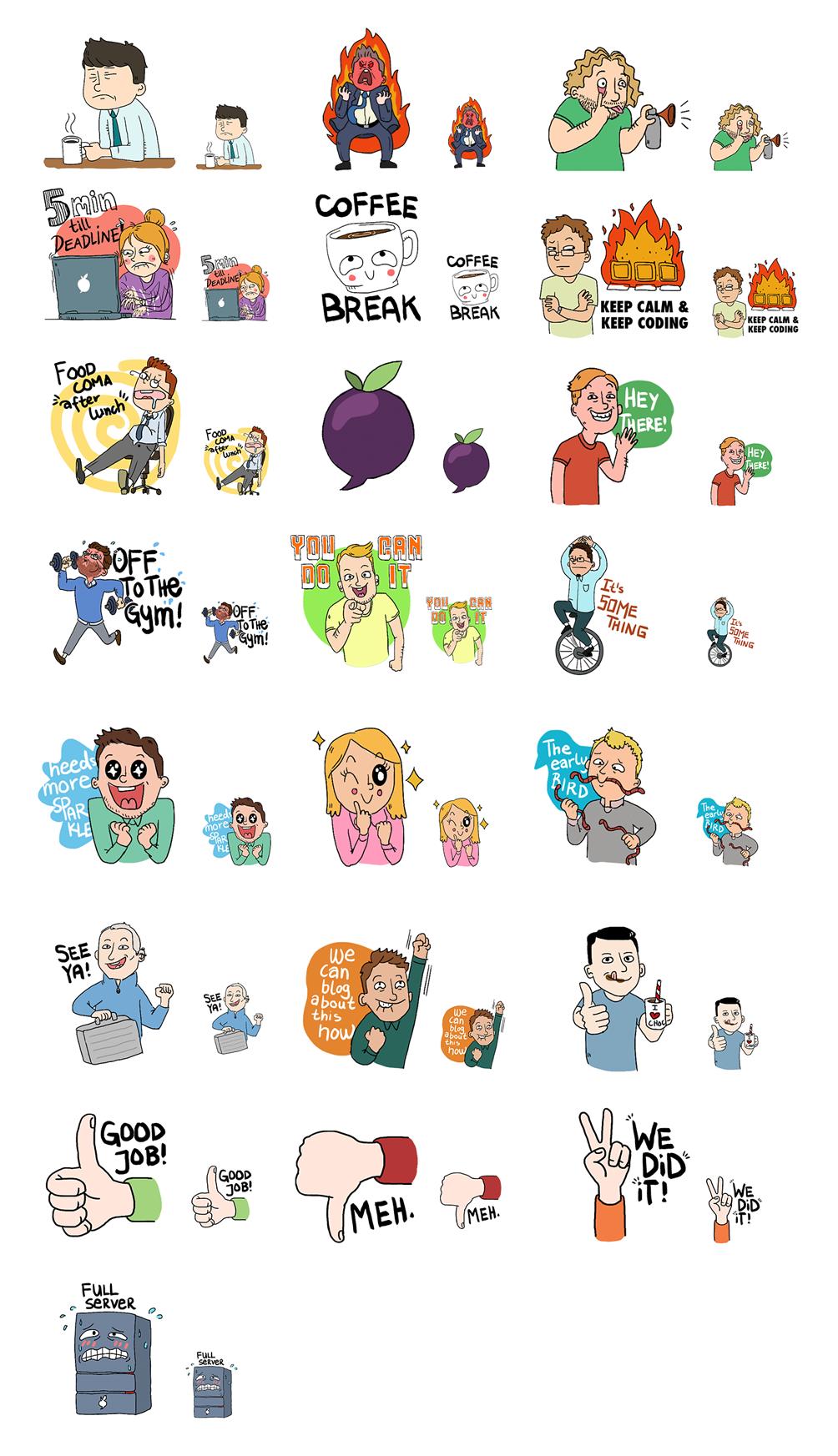 11 diverse sticker