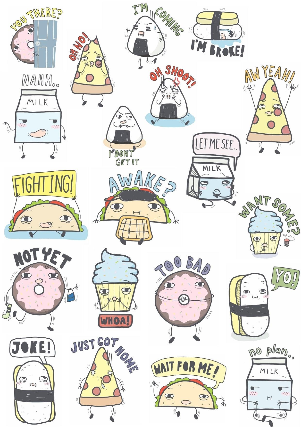 16 sticker essen