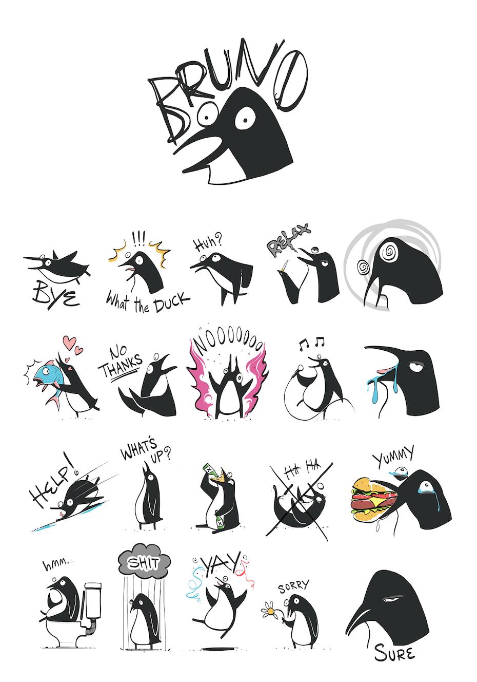 17 vogel sticker design
