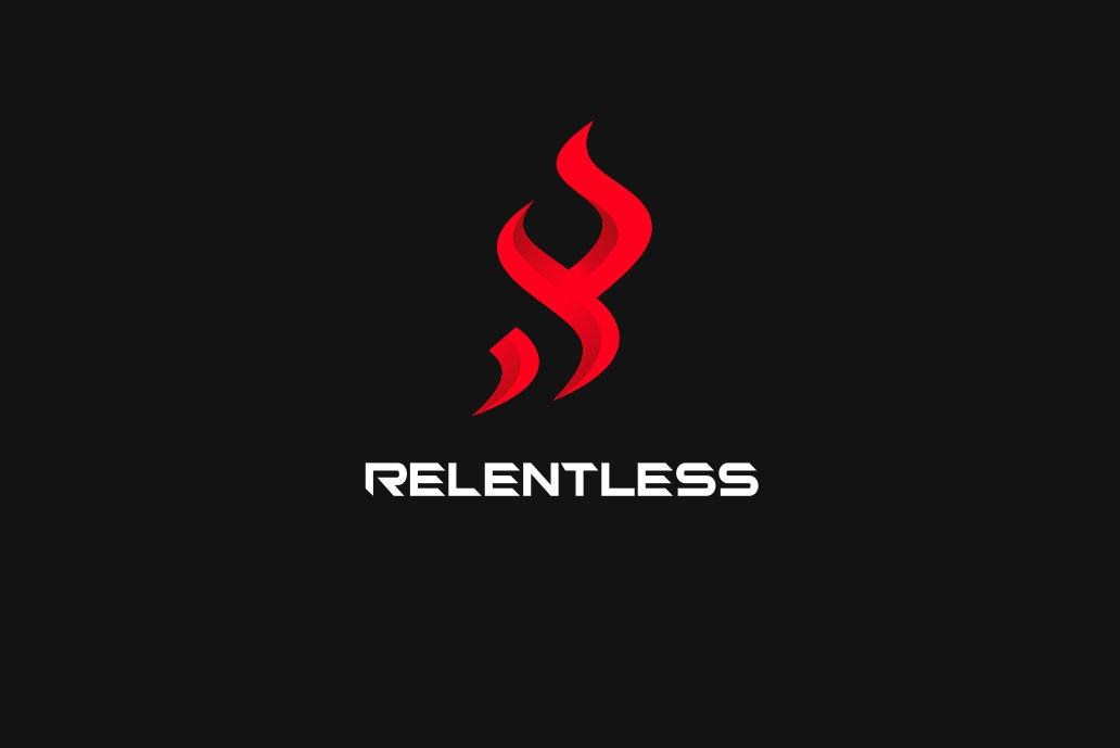 19 relentless logo design