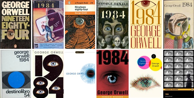George Orwell's 1984 book covers