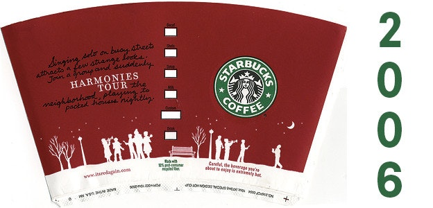 2006 starbucks holiday cup