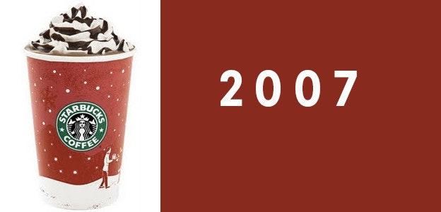 2007 starbucks holiday cup