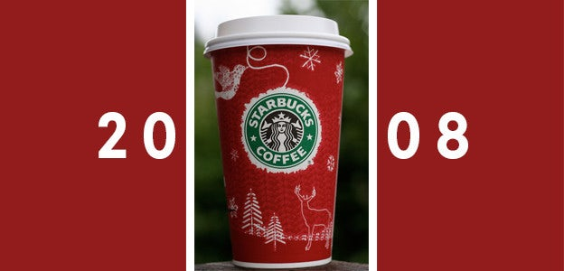 2008 starbucks holiday cup