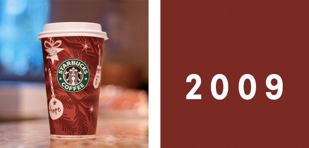 2009 starbucks holiday cup