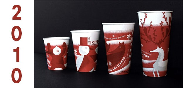 2010 starbucks holiday cup