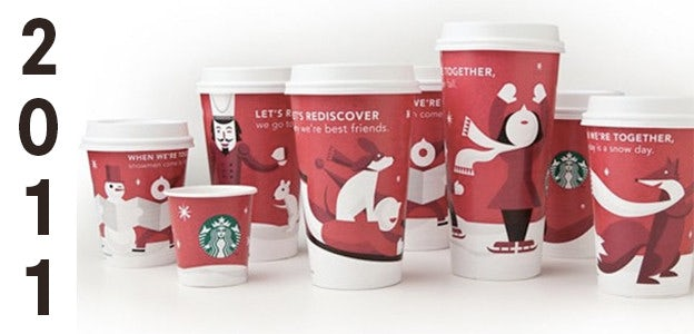 2011 starbucks holiday cup