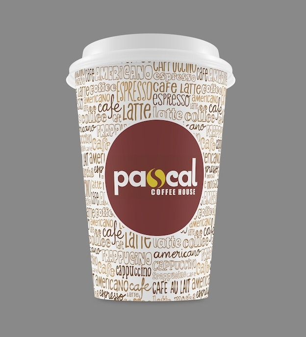 Pascal Coffee House Take-Out-Cup-Design